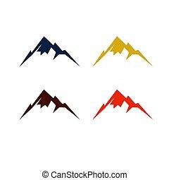 kolor, różny, góry, barwny, projektować