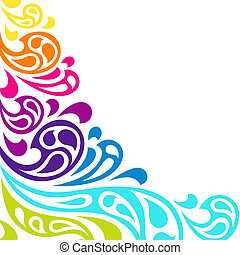 kolor, tło., abstrakcyjny, bryzg, fale