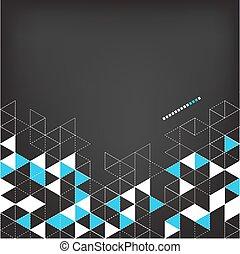 kolor, technologia, abstrakcyjny, trójkąt, tło