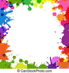 kolor, ułożyć, kropelki