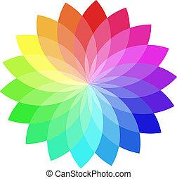 kolor, wektor, wheel.