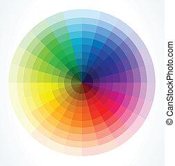 kolor, wektor, wheels., ilustracja