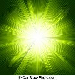 kolor, zielony, eps, burst., projektować, szablon, 8