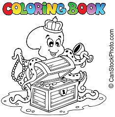 kolorowanie, ośmiornica, książka