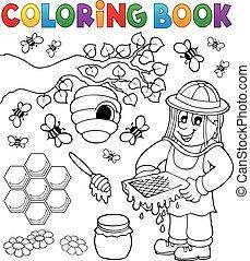 kolorowanie, pszczelarz, książka