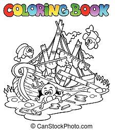 koloryt książka, katastrofa morska