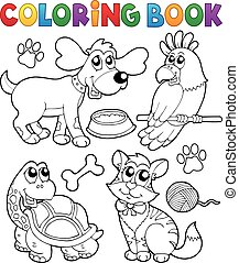koloryt książka, pieszczochy