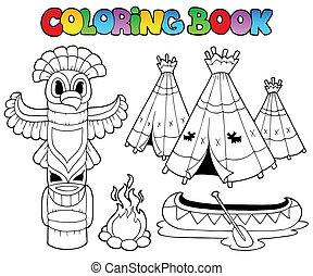koloryt książka, totem