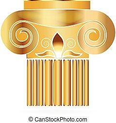 kolumna, gmach, logo