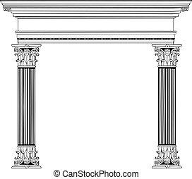 kolumna, grek, łuk