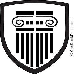 kolumna, logo, tarcza