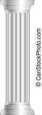kolumna, szary, wektor, ilustracja