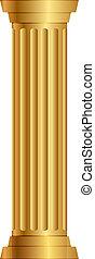 kolumna, złoty