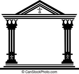 kolumny, grek, starożytny