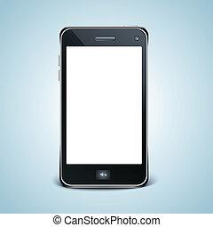 komórka głoska, biały, nowoczesny, screen.