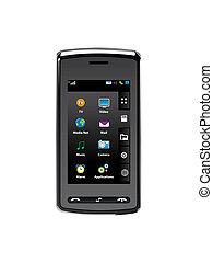 komórka, ruchomy, nowoczesny, telefon, technologia