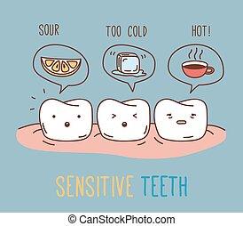 komicy, czuciowy, o, teeth.