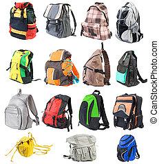 komplet, 15, #1., odizolowany, bagpacks, przód, objects.,  , prospekt