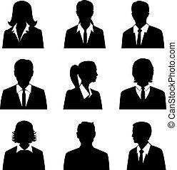 komplet, avatars, handlowy