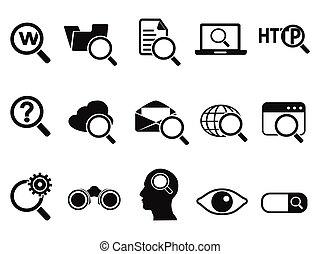 komplet, badawczy, ikony