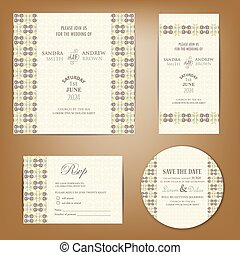 komplet, bilety, zaproszenie, ślub