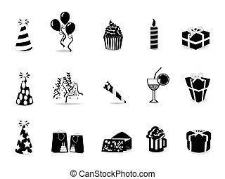 komplet, czarnoskóry, urodziny, ikona