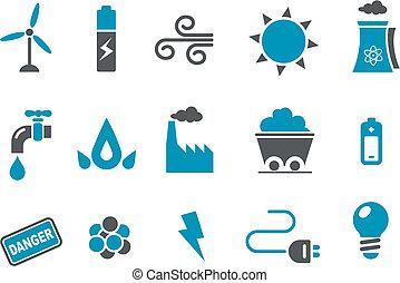 komplet, ikona, energia