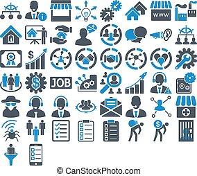 komplet, ikona, handlowy
