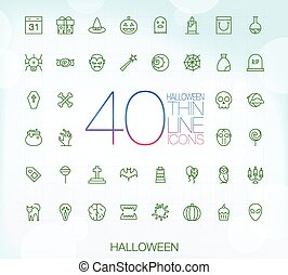 komplet, ikony, halloween, 40, cienki, modny