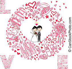 komplet, karta, ślub