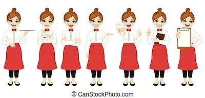 komplet, kelnerka, zbiór