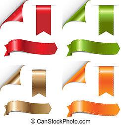 komplet, kolor, wstążki
