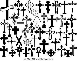 komplet, krzyż