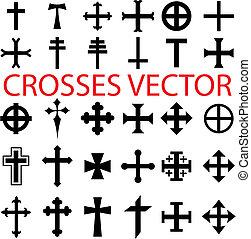 komplet, krzyże