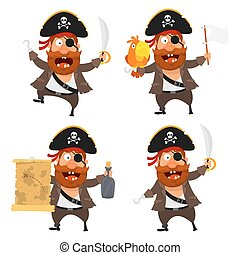 komplet, litera, pirat