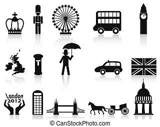 komplet, londyn, ikony