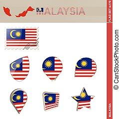 komplet, malezja bandera, komplet, #170
