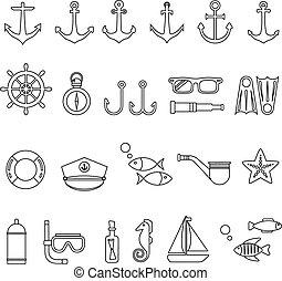 komplet, marynarka, ikona