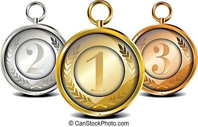 komplet, medal