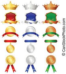 komplet, medals