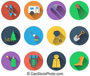 komplet, obozowanie, ikony