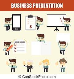 komplet, prezentacja, handlowiec