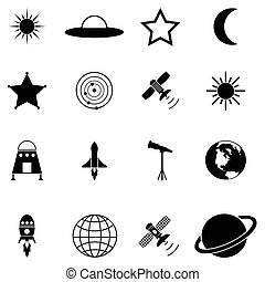 komplet, przestrzeń, ikona