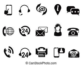 komplet, służba, ikony, na, kontakt, czarnoskóry