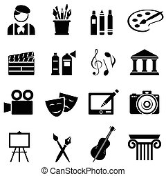 komplet, sztuka, ikona