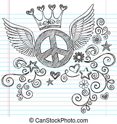 komplet, tiara, pokój, skrzydełka, znak