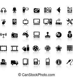 komplet, video, ikona, dźwiękowy