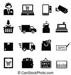 komplet, zakupy, ikona