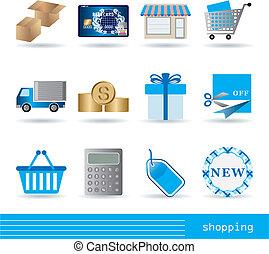 komplet, zakupy, ikony