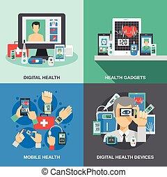 komplet, zdrowie, cyfrowy